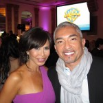 Laura Diaz with Dog Whisperer Cesar Millan